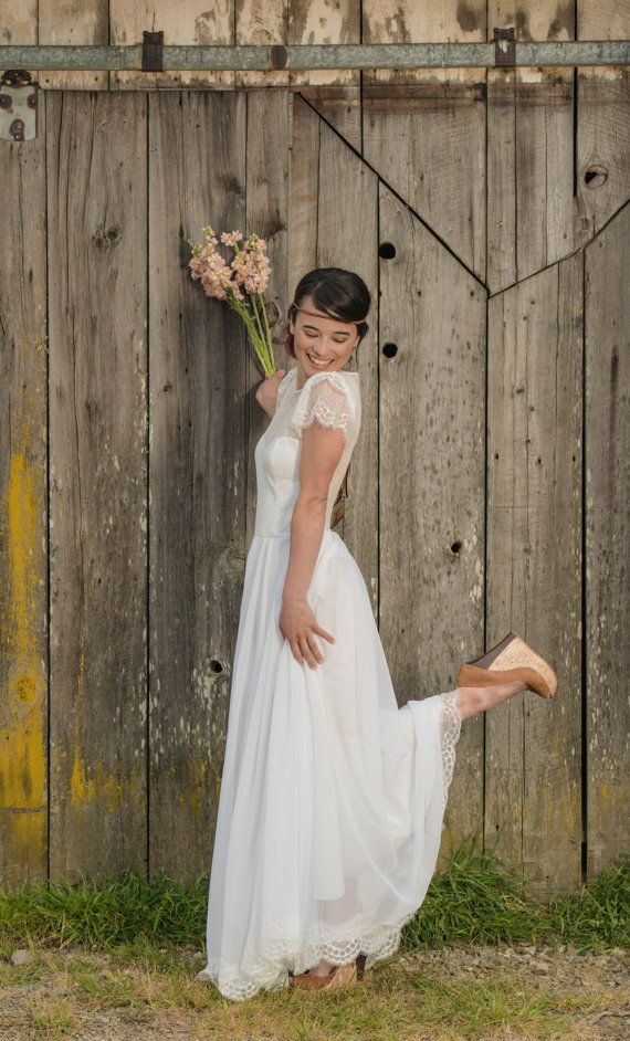 Ekoklänning från WearYourLoveXO/Etsy [organic dress by WearYourLoveXO/Etsy]  #wedding #ecobride #bröllop