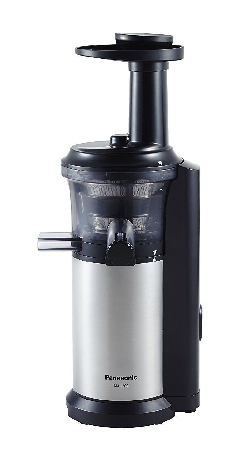 Panasonic Mj L500 Slow Juicer With Frozen Treat Attachment Black Silver Read More At The Image Link Cool Kitchens Juicer Home Appliances