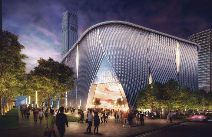 Artist impression of the Xiqu Centre exterior