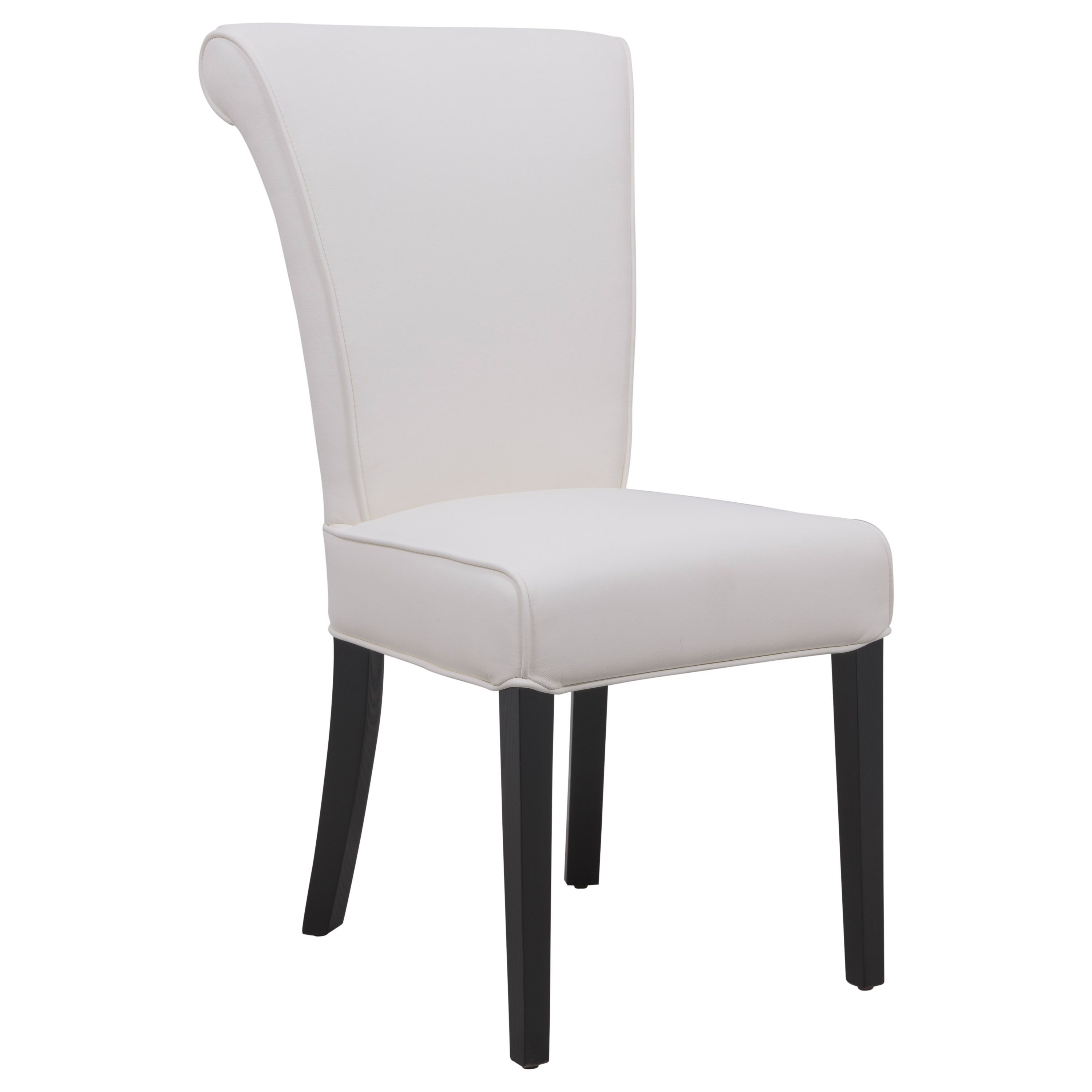 Nesta Z Shaped Modern Diningchair Is Finished In White Faux Leather And Comes With A Circular Ba Leather Dining Chairs Dining Chairs Uk Modern Dining Chairs