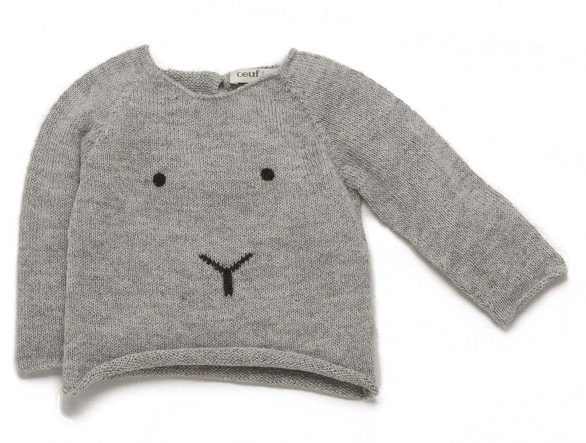 Oeuf Nyc Oeuf Nyc Bunny Sweater Baby Clothing