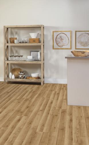 """EZ Plank™ Medium Oak 81/16"""" x 475/8"""" Laminate Flooring"""
