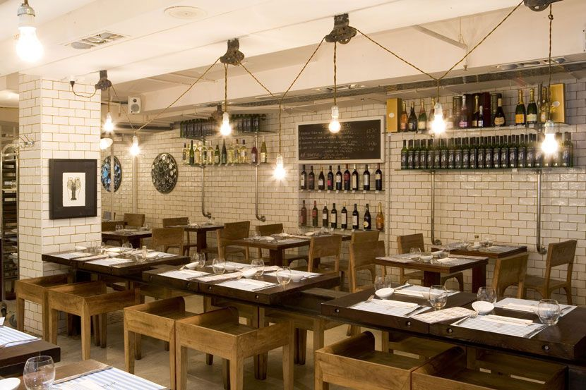Pared Blanco Roto Interiores Restaurantes Pinterest