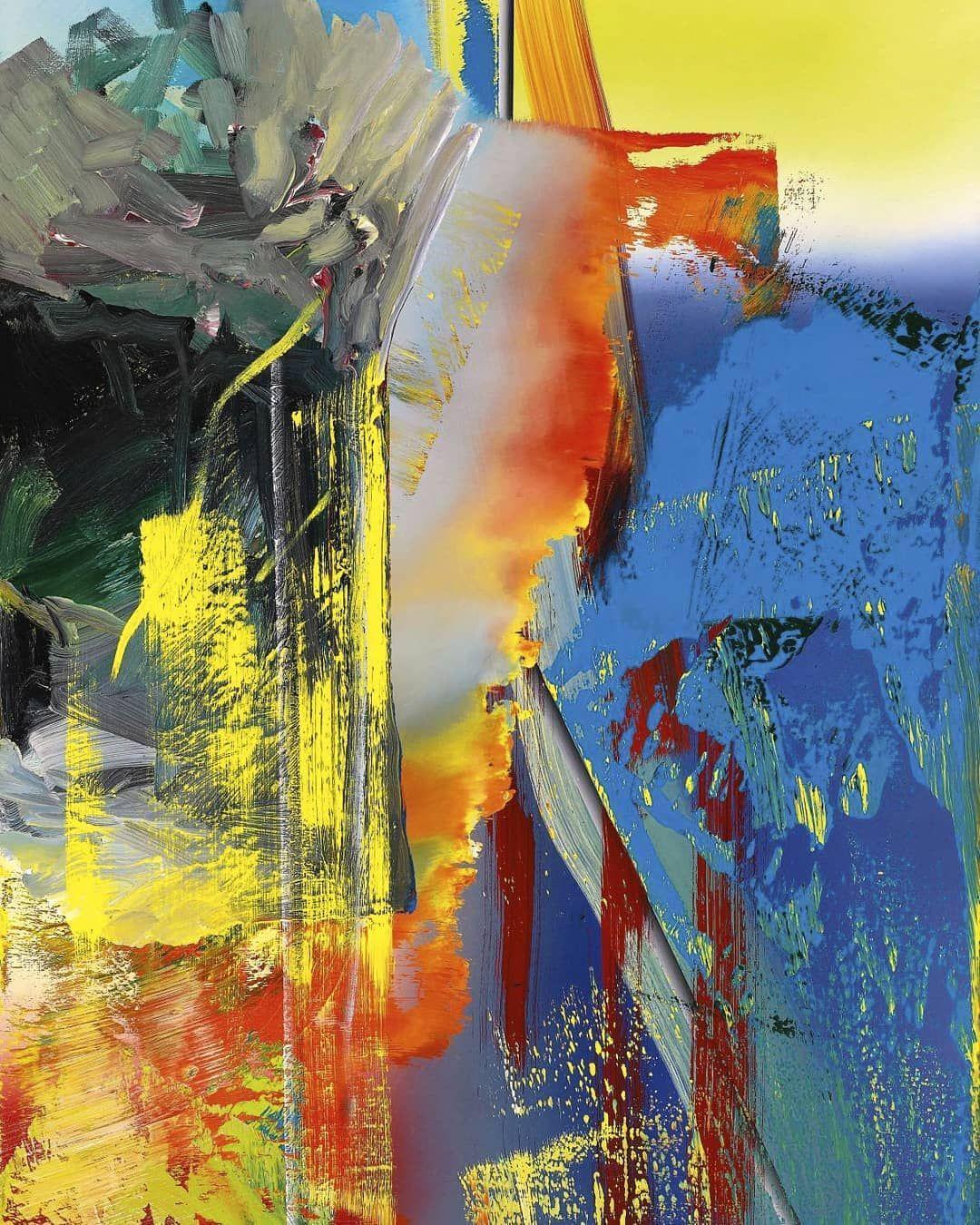 rui pinhead on instagram gerhard richter abstraktes bild 1986 gerhardrichter art artist folk painting bilder wohnzimmer abstrakt acrylbilder modern