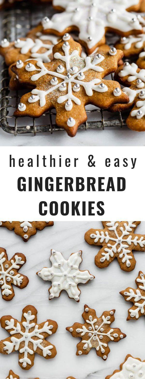 Healthier Easy Gingerbread Cookies #gingerbreadcookies