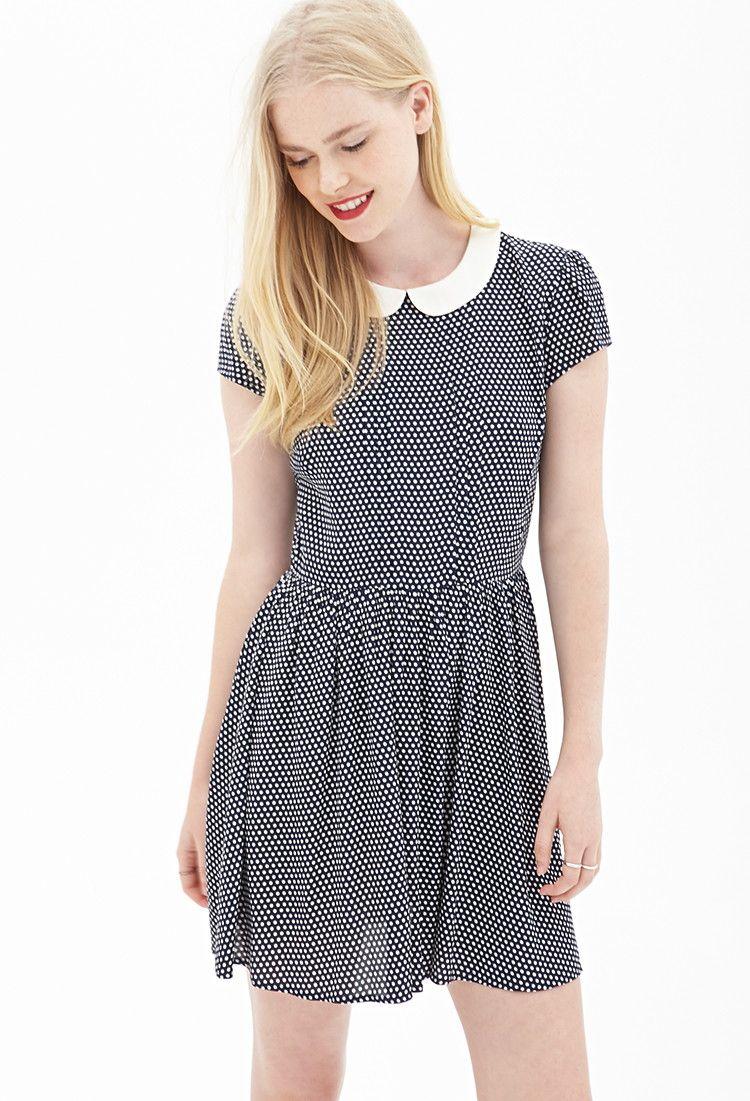 Polka Dot Smock Dress - Dresses - 2000101301 - Forever 21 UK