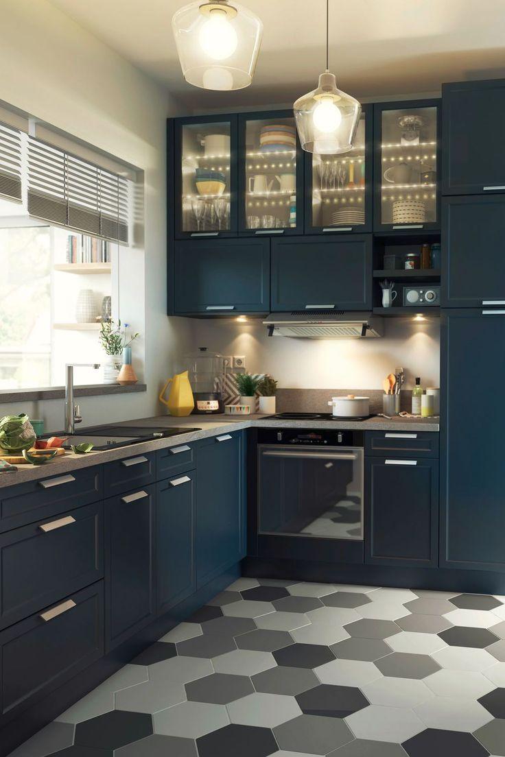 Revetement Sol Cuisine 19 Modeles De Sols Pour Une Cuisine Au Top Meuble Cuisine Decoration Cuisine Cuisine Appartement