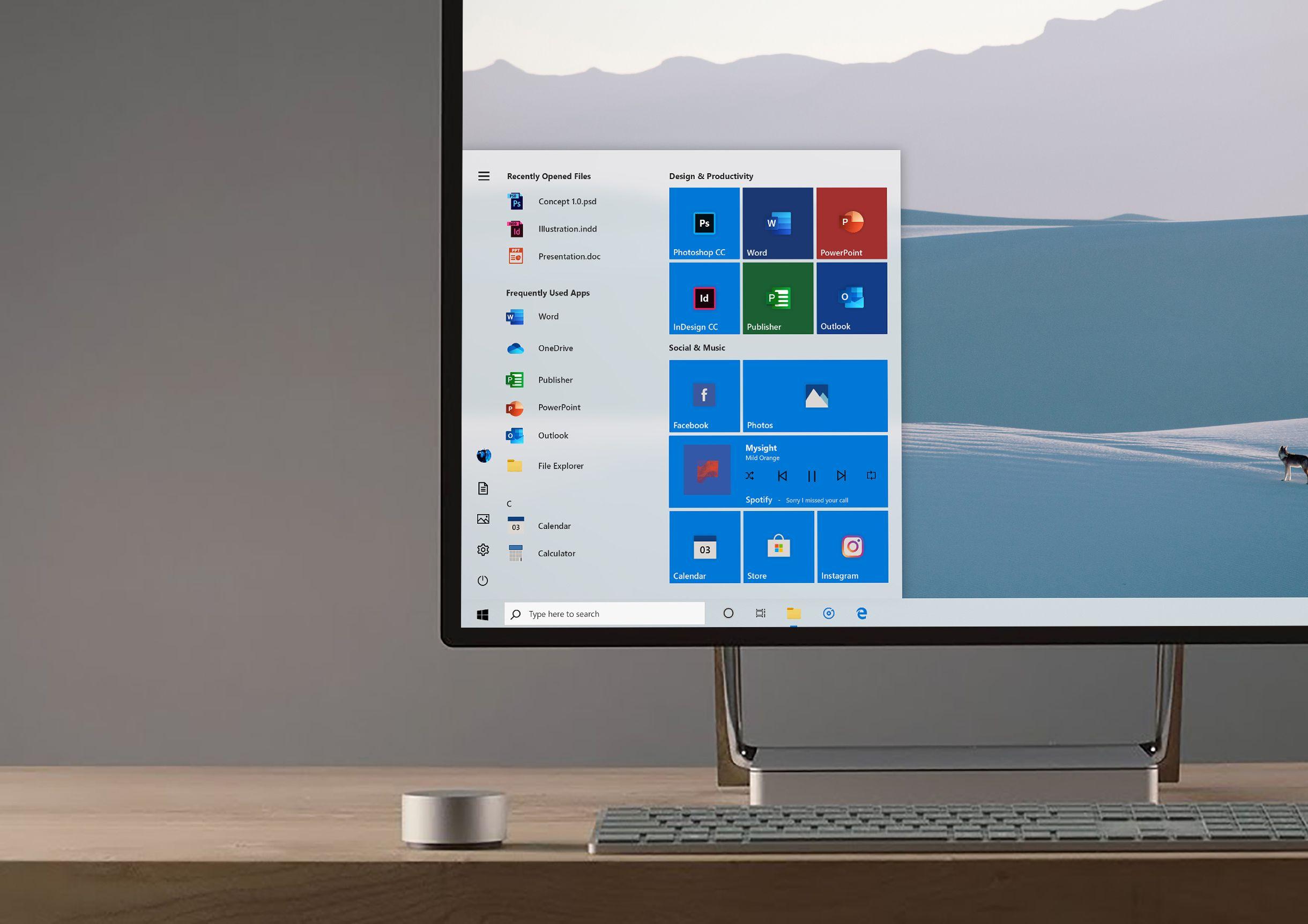 New Windows 10 Start menu Microsoft shows this new design