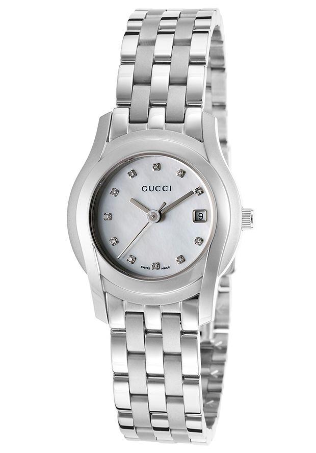 d47d5d8887a Gucci Women s 5500 Diamond Stainless Steel White MOP Dial - Watch YA055501