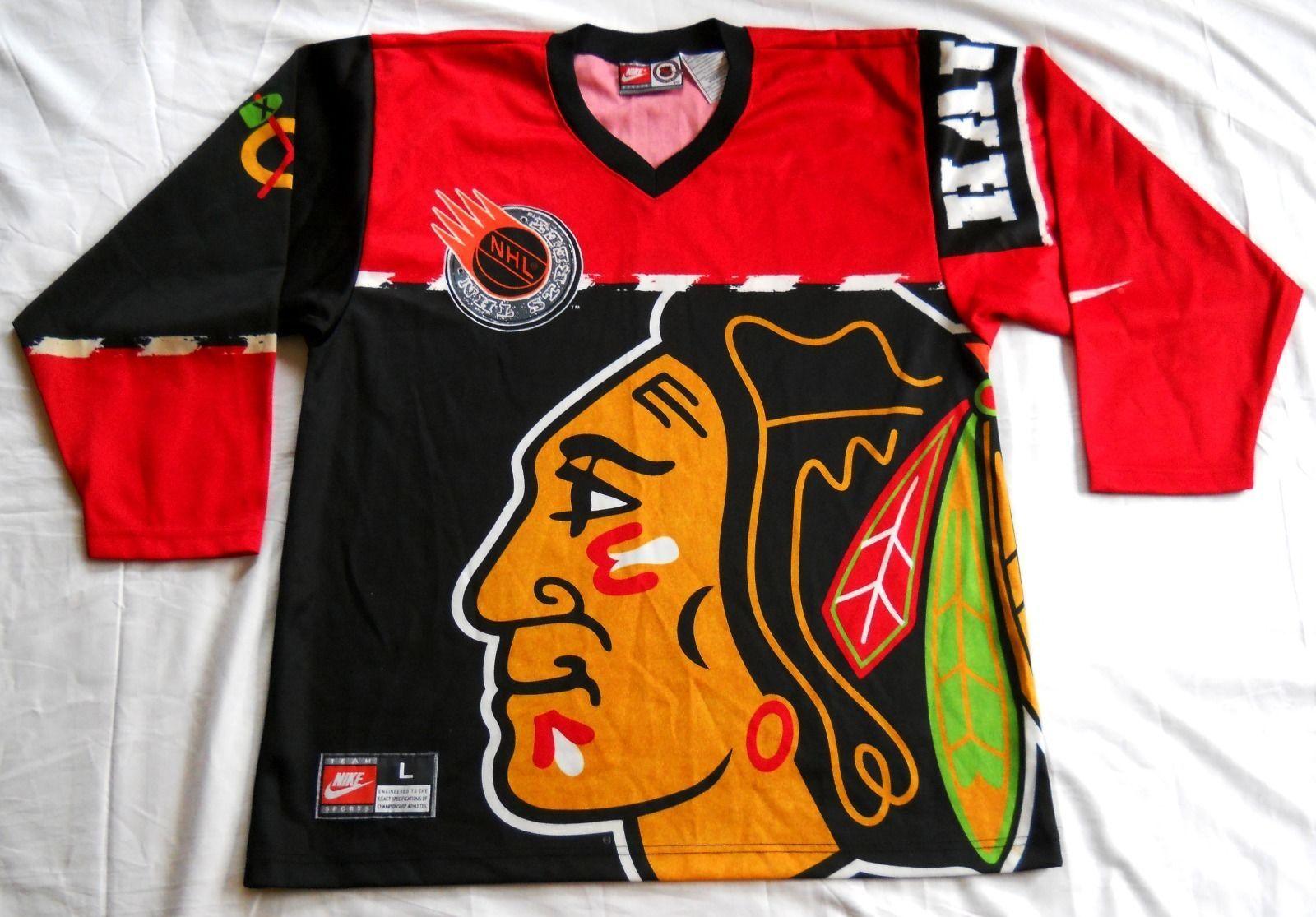 Chicago Blackhawks NHL Street Jersey Nike Vintage 90s Mens ...