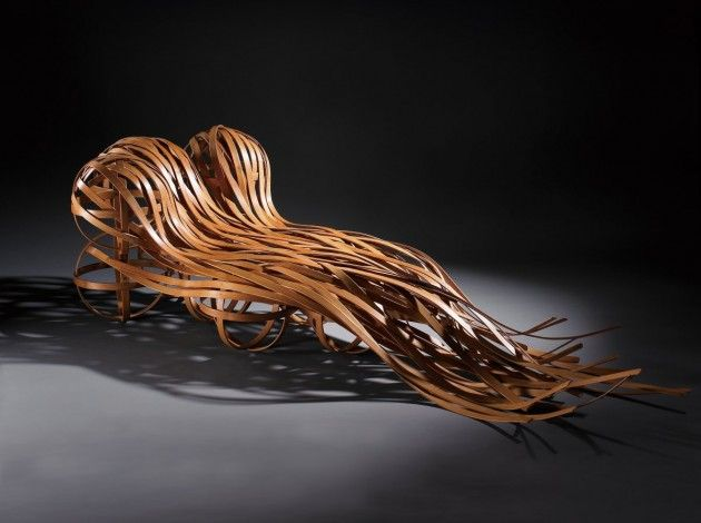 Taiwanese-designer Cheng-Tsung Feng together with craft artist Kao-Min Chen have created Flow, a bamboo chair.