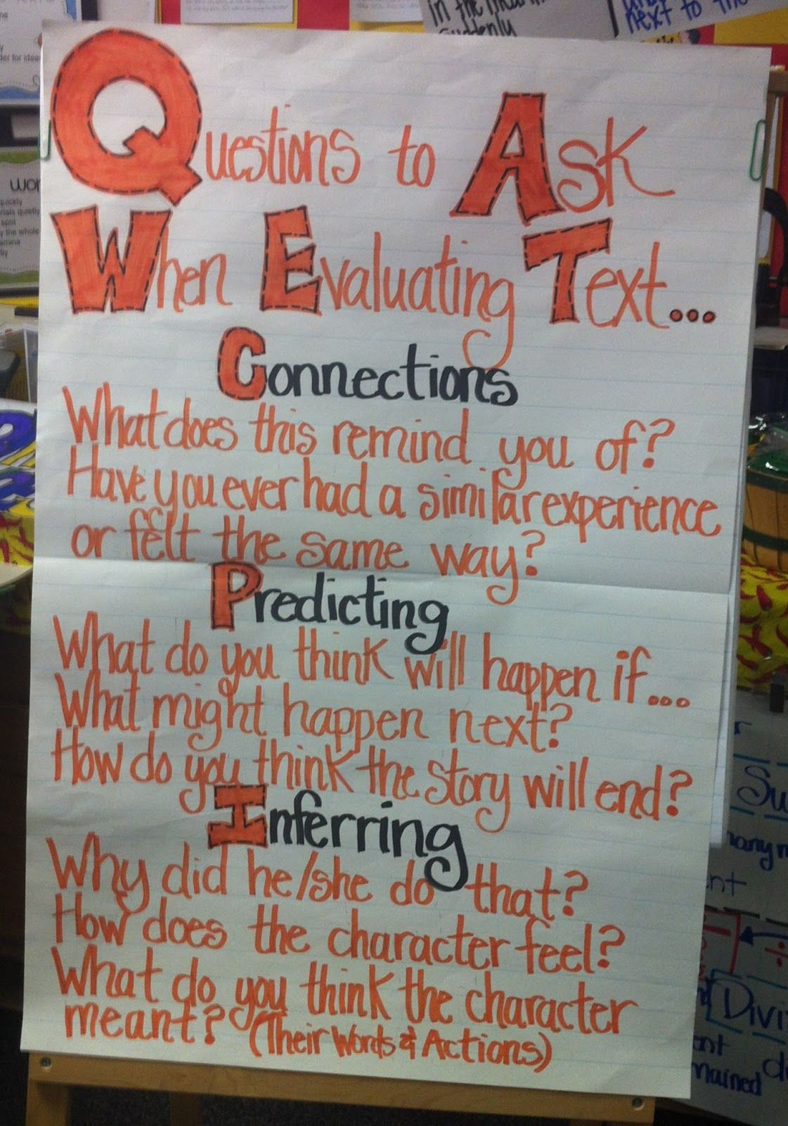 negative verbs anchor chart | Classroom Anchor Charts and Posters