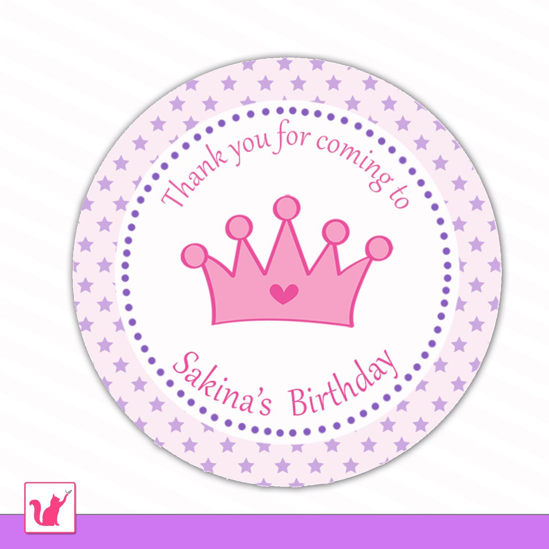 Printable Personalized Cute Purple Star Hot Pink Princess