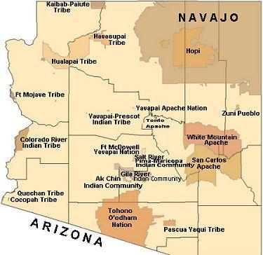 Arizona Tribal Map