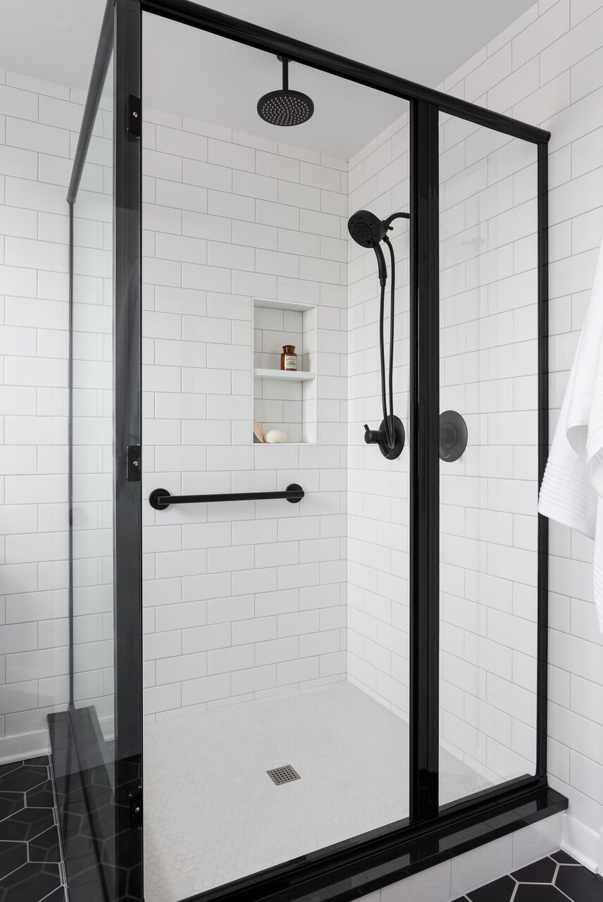 Award Winning Master Bathroom With All New Fixtures In A Sharp