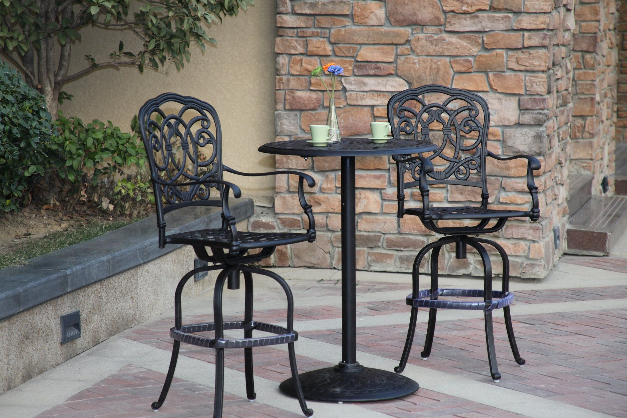 Florence 3 Piece Bar Set with Cushions