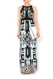 Blue Printed Maxi Dress #WallisFashion