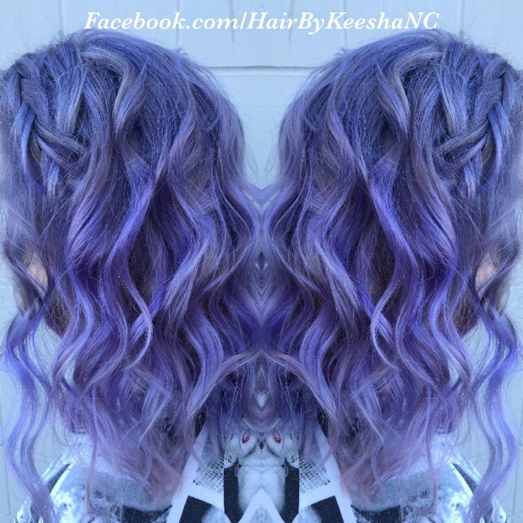 Medium Beautiful Lavender Hair Hair By Keesha Cavadini Mia