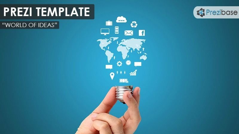 Social Elements Prezi Template  Template And Share Icon