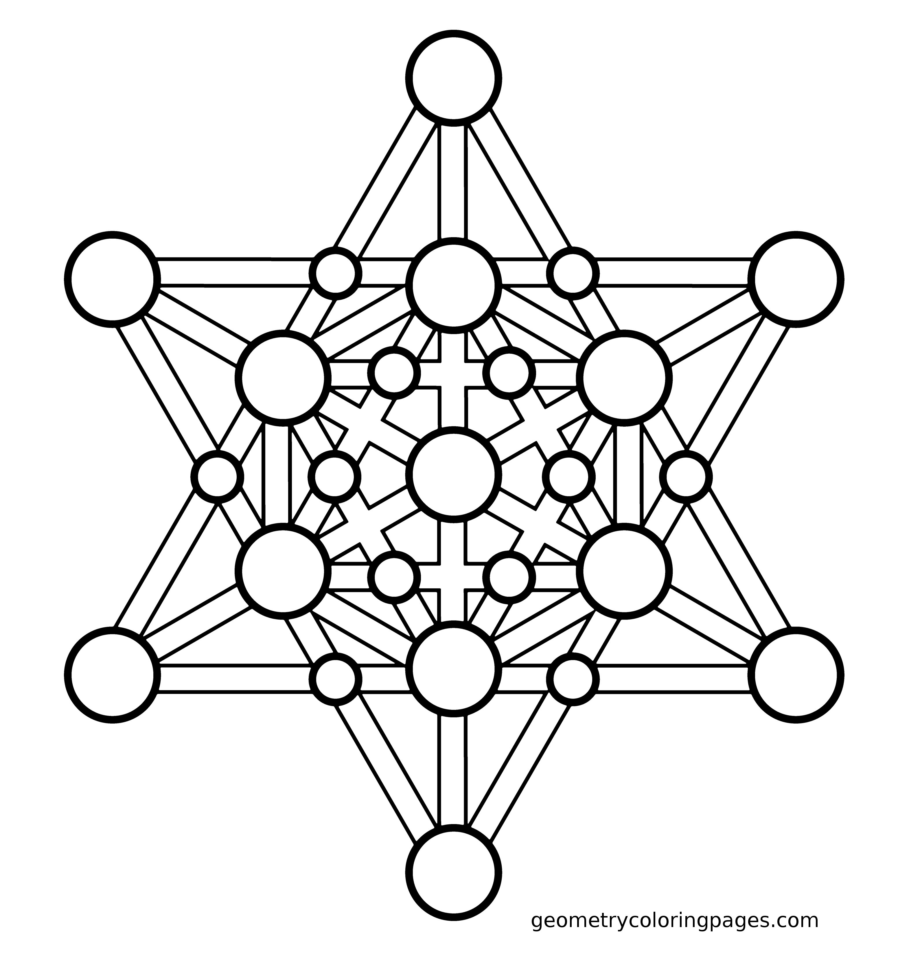 Merkaba Geometry Coloring Pages Sacred Geometry Mandala Coloring Pages Coloring Pages