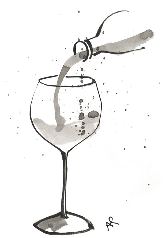 Wine illustration | For the Home in 2019 | Wine glass ...