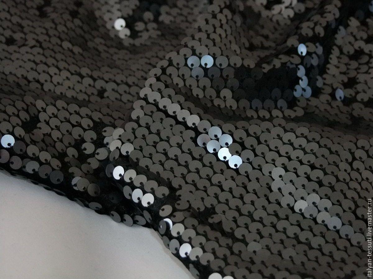Вышивка пайетками на трикотаже