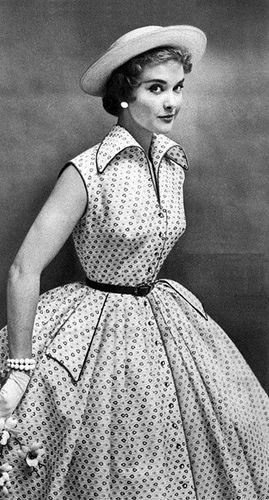 1954 Fashion 1950 Fashion Vintage Dresses