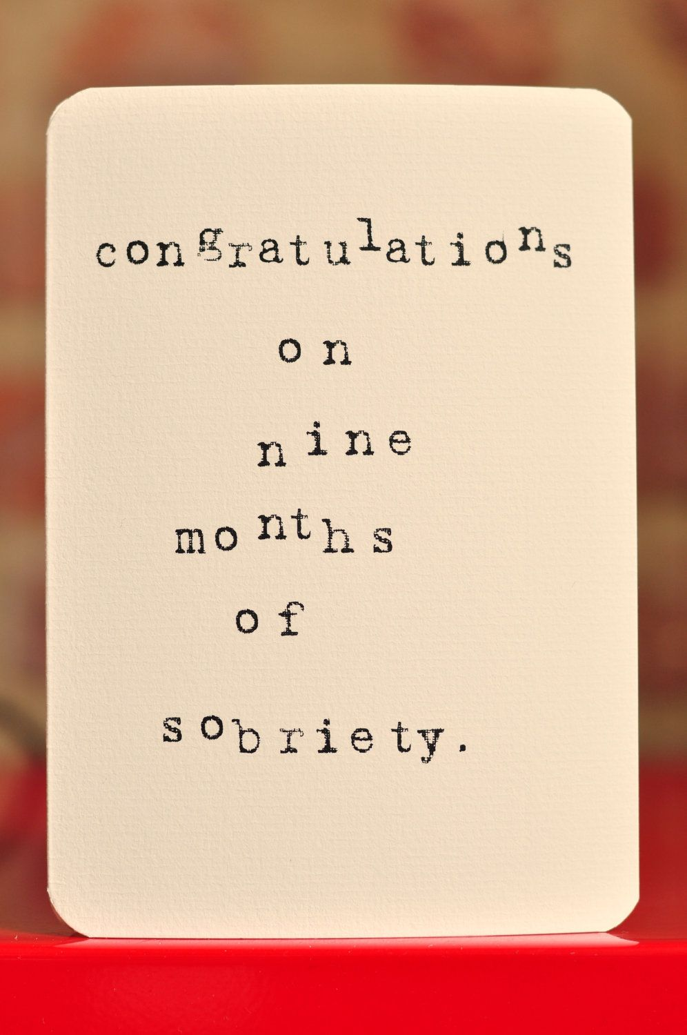 Mardy mabel pregnancy congratulations card congratulations on mardy mabel pregnancy congratulations card congratulations on nine months of sobriety kristyandbryce Image collections