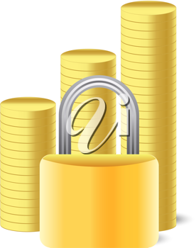 Iclipart Clip Art Illustration Of A Money Icon With A Lock And Coins With Images Clip Art Money Icons Free Clipart Images