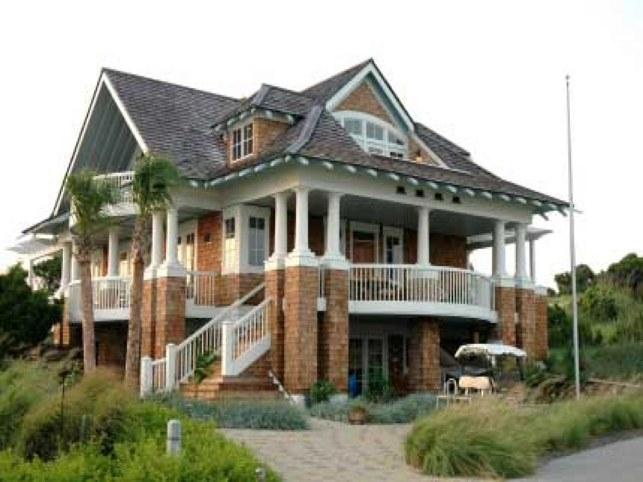 Coastal Living House Plans On Pilings Modular Beach Design | Beach ...