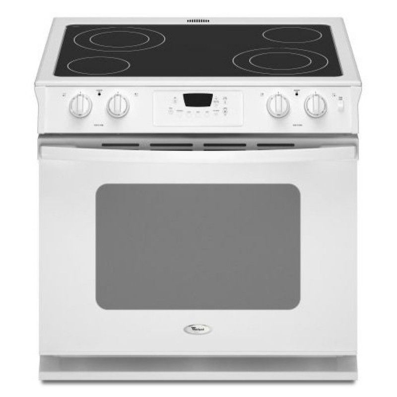 Whirlpool Wde350lvq 30 Inch Drop In White Electric Range Featuring 4 Radiant Elements 4 3 Cu Ft Sel Drop In Electric Range Lowes Home Improvements Whirlpool