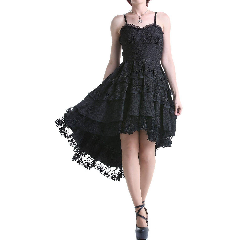 Vestido gótico negro con encaje crazyinlove españa ropa
