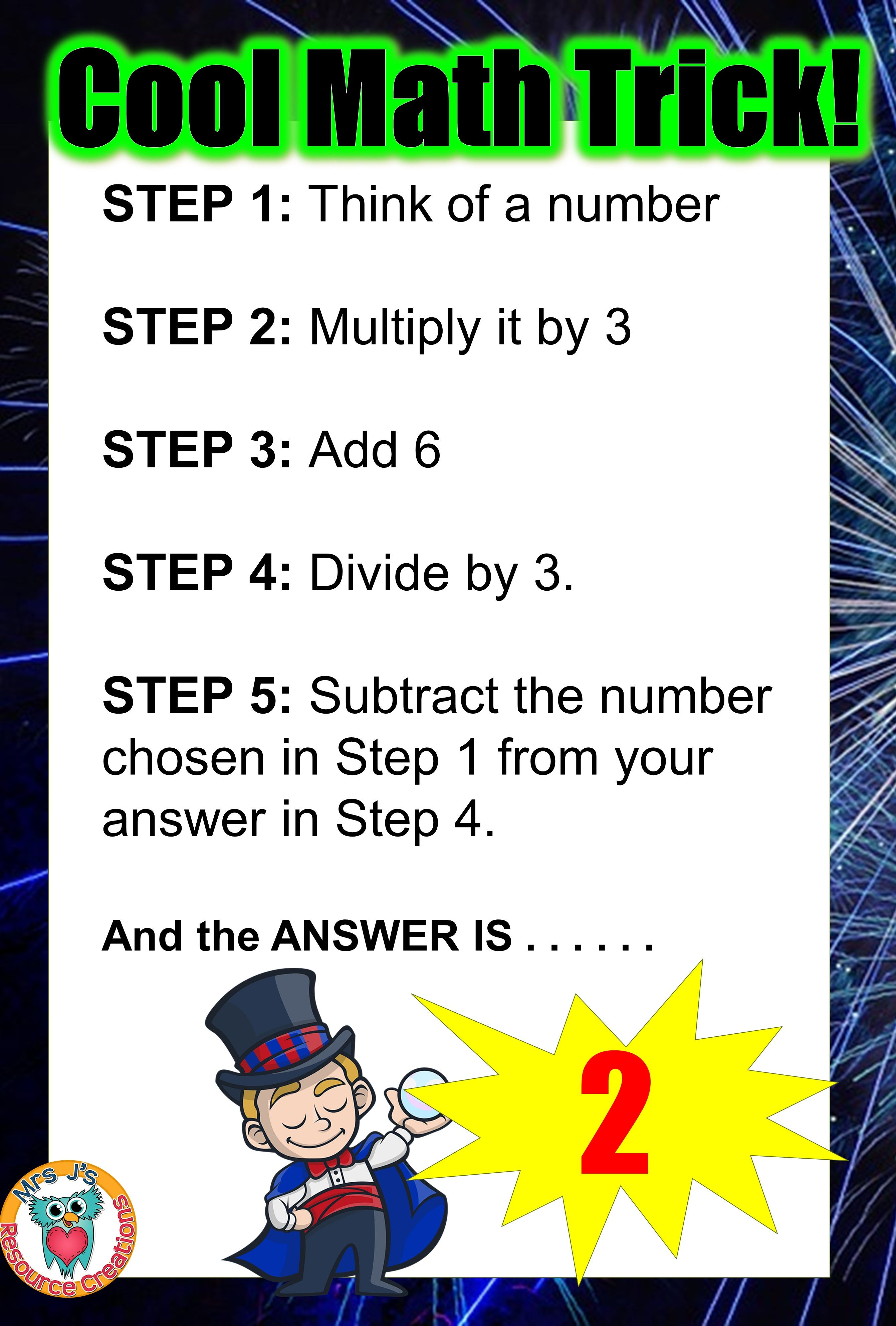 Cool Math Trick where your answer is always 2! For a fun