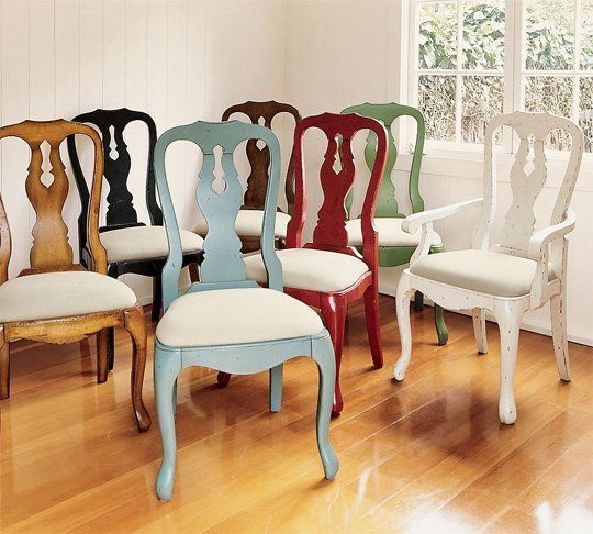Pottery Barn Queen Anne Chair | Comedores, Sillas y Pintar