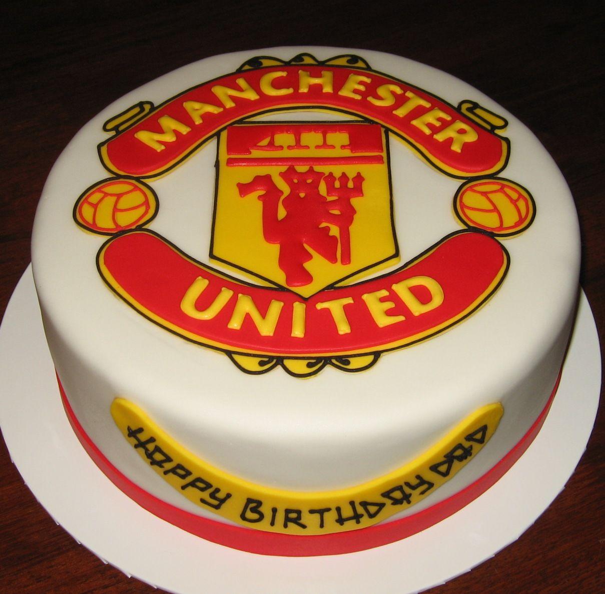 Terrific Manchester United Cake Google Search Manchester United Cake Birthday Cards Printable Nowaargucafe Filternl