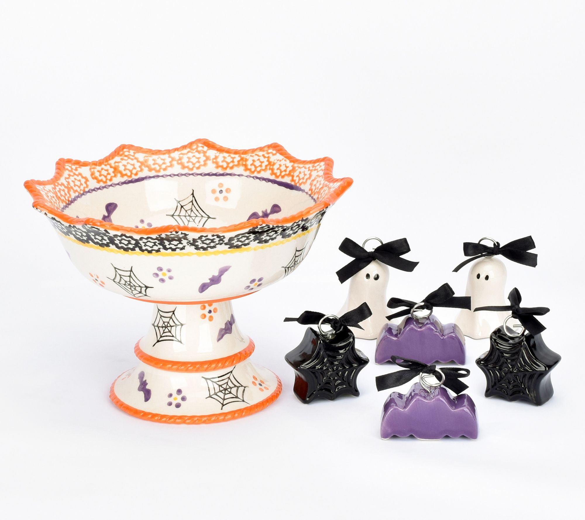 Halloween Temp 2020 Temp tations Centertaining Pedestal with 6 Place Card Holders