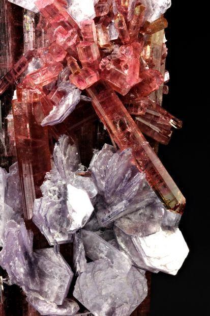 Elbaite Tourmaline with lepidolite