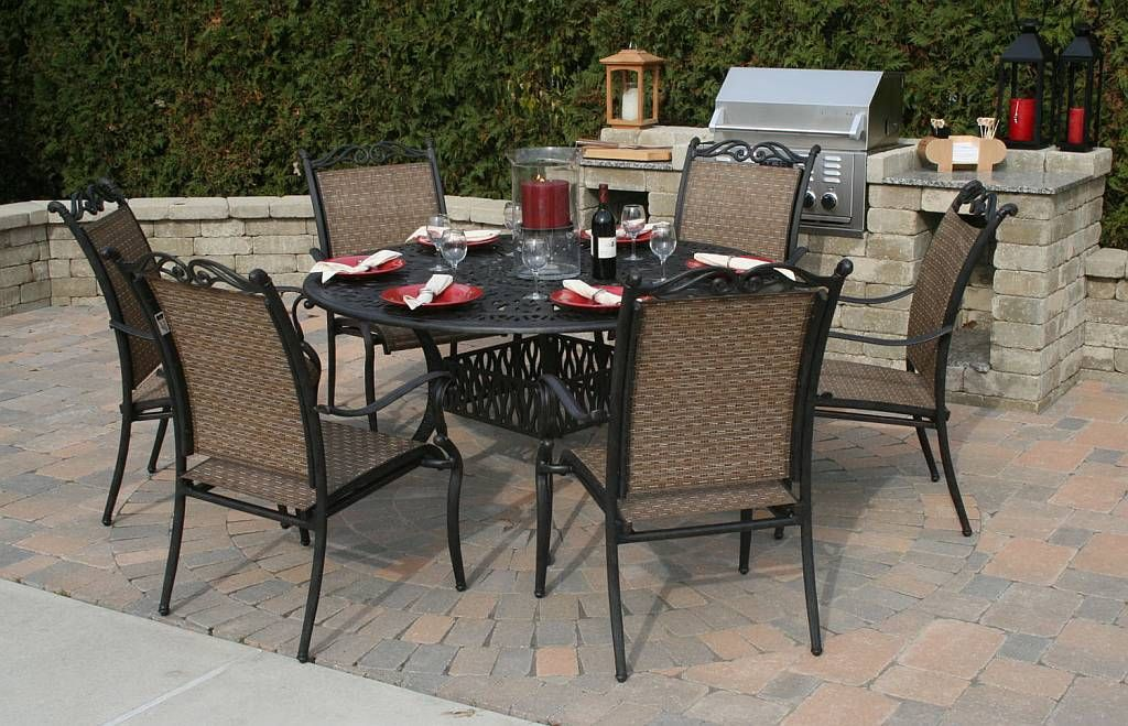 Wrought Iron Round Patio Dining Table Sets And Chairs