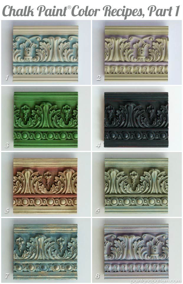 Great Chalk Paint Color Recipes For Painted Moldings And Furniture Via Pattern