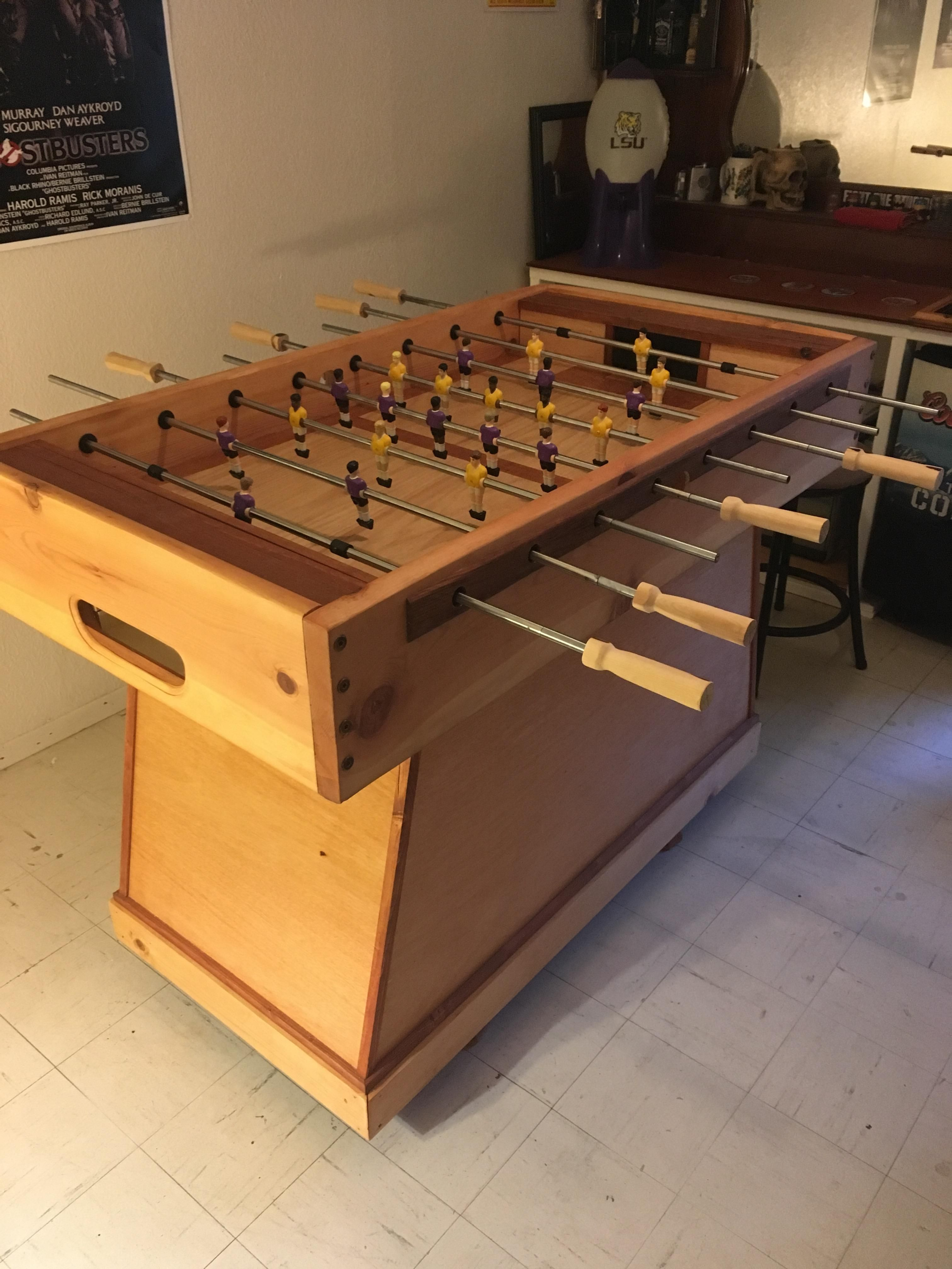 Foosball Table Project Handmade Crafts Howto Diy Foosball Foosball Table Projects