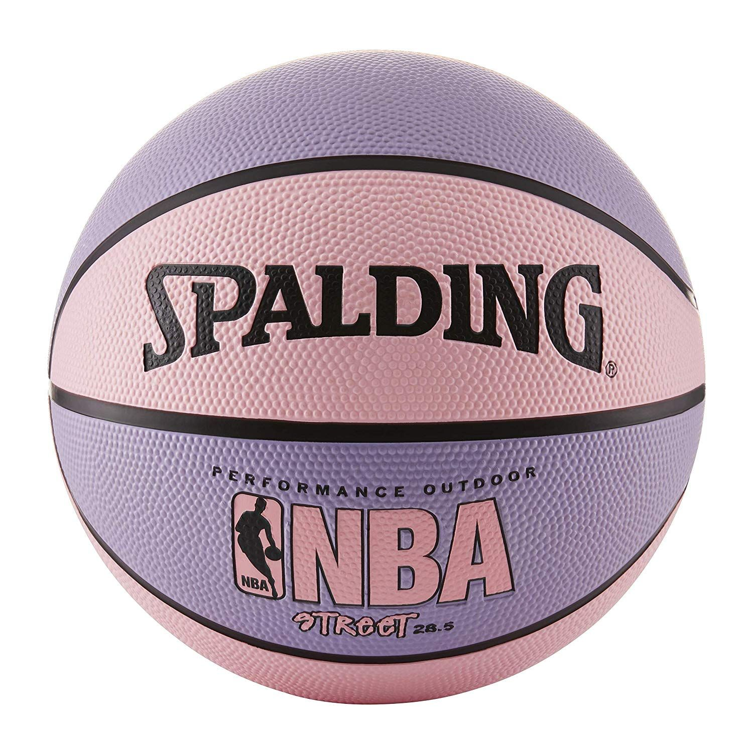 Spalding Nba Street Basketball Pink Purple Intermediate Size 6 28 5 Street Basketball Spalding Basketball Workouts