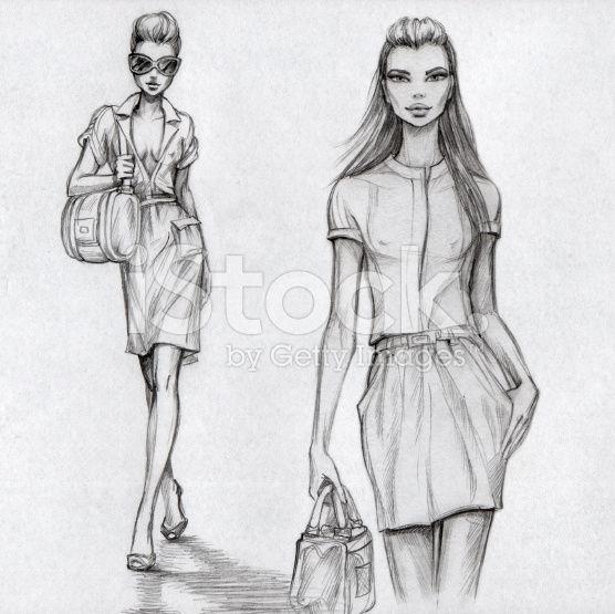 Extrêmement Sketch. Artist Tatarnikova Irina, for istockphoto.   Croquis  WZ82