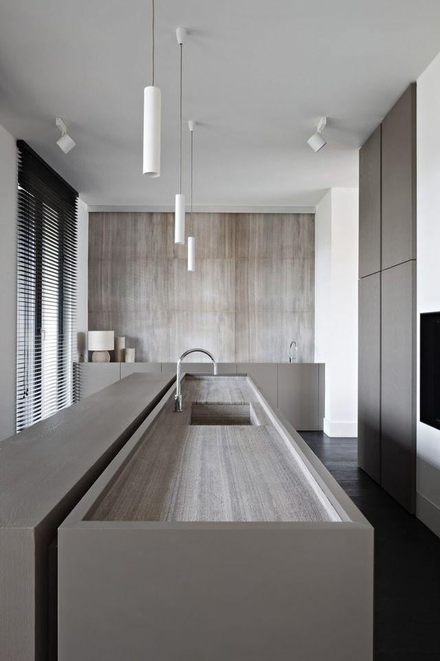 Moderne Küchen, Graue Küchen, Küchen Modern, Innenarchitektur Küche, Graue  Kücheninsel, Kochinseln, Innenräume, Moderne Zeitgenössische, Moderner ...