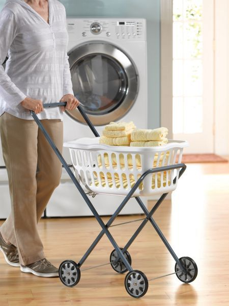 Laundry Trolley Simple Storage Home Safety Laundry
