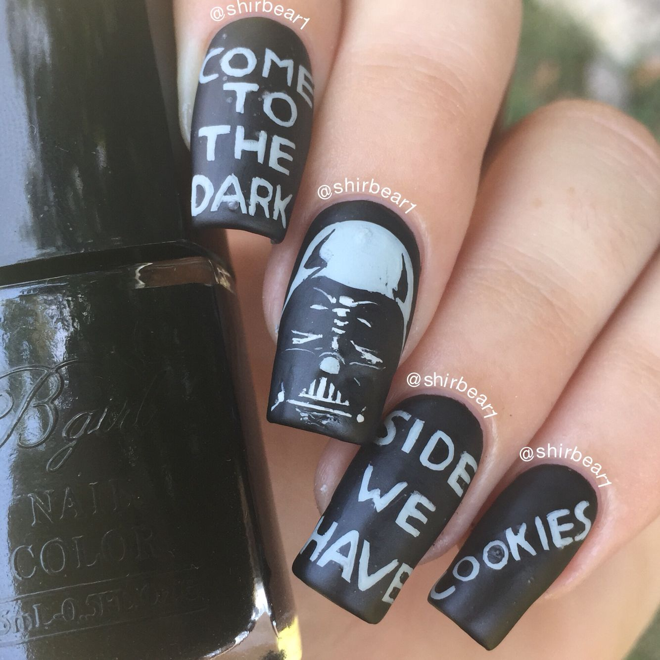 Darth Vader nail art, for more nail arts go follow me on Instagram ...