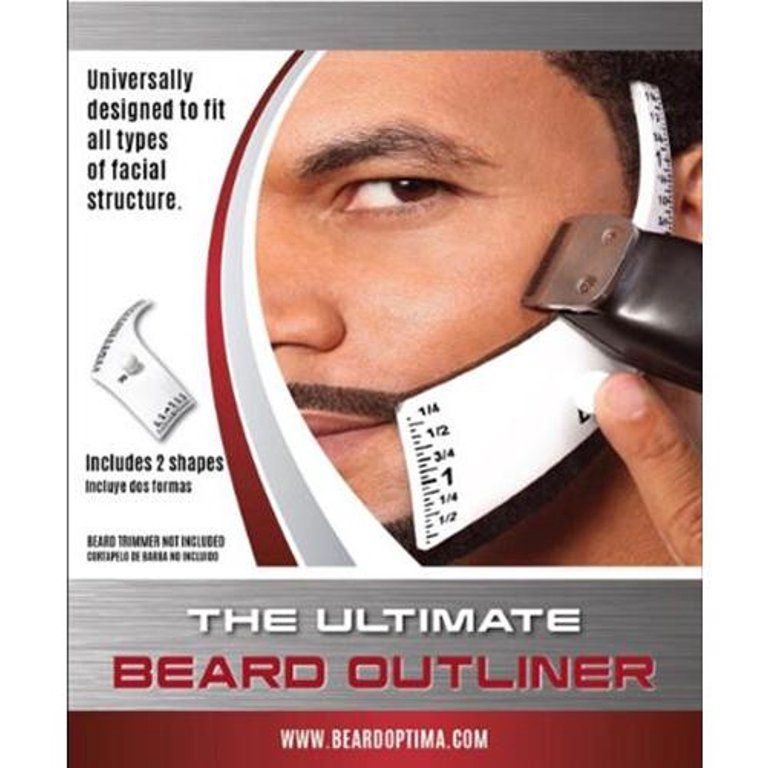 Beardoptima Beard Outliner Perfect Beard Shaper Facial Hair Tool Lineup Template - Walmart.com - Walmart.com