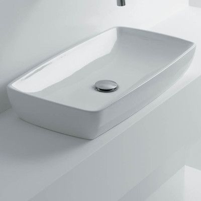 WS Bath Collections Rectangular Vessel Bathroom Sink Products