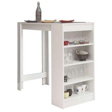 Table bar avec rangement - Conforama Tables De Cuisine