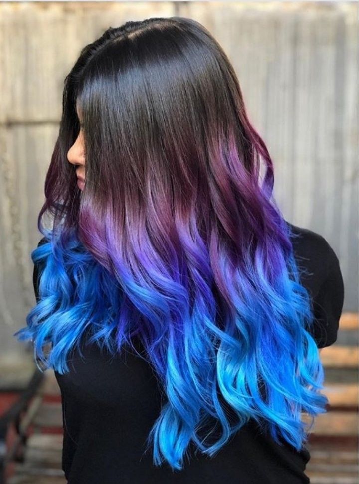Color Hair Blue Happyinthehead In 2020 Hair Dye Tips Hair Color Pink Purple Blue Hair Ombre