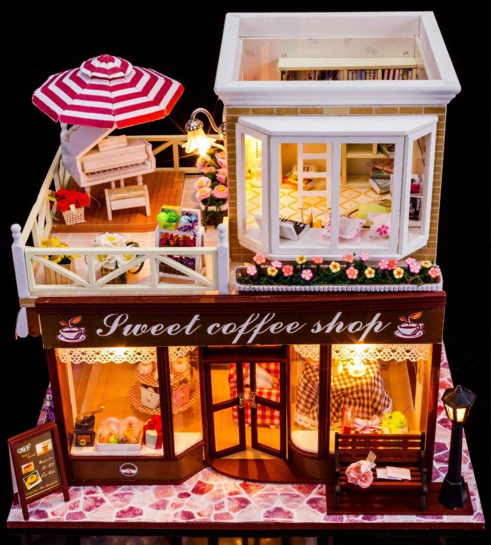 diy miniature dollhouse kit glue